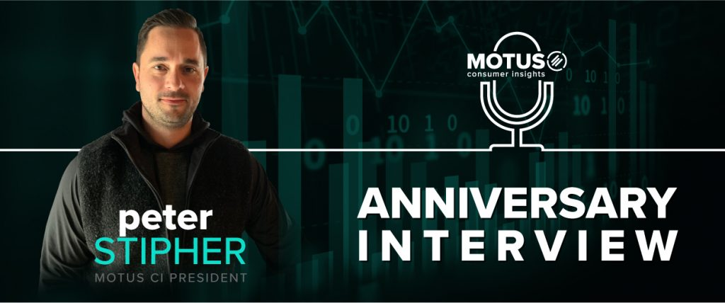 "Image depicting MOTUS President Pete Stipher and the title ""Anniversary Interview""."
